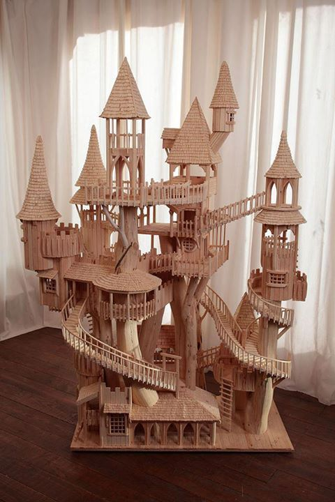 Amazing popsicle stick treehouse mind food for How to build a treehouse with sticks