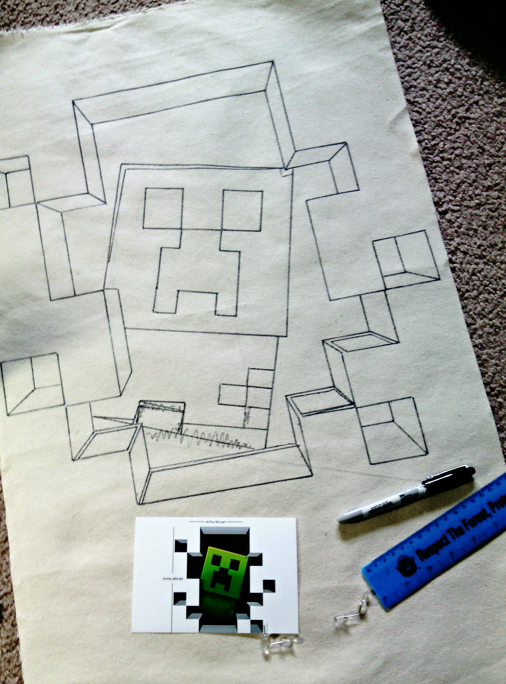 How To Make A 3d Minecraft Creeper Wall Hanging Mind Food