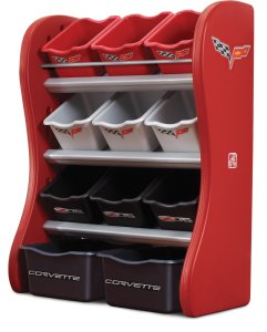 Step2 Corvette Room Organizer, Red/Black/Gray