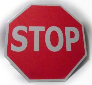 Stop Sign Tin Traffic Metal Street Sign