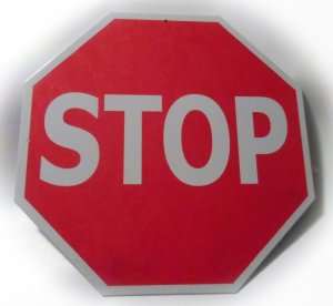 Stop Sign Tin Traffic Metal Street Sign