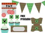 Printable Minecraft Cupcake Wraps