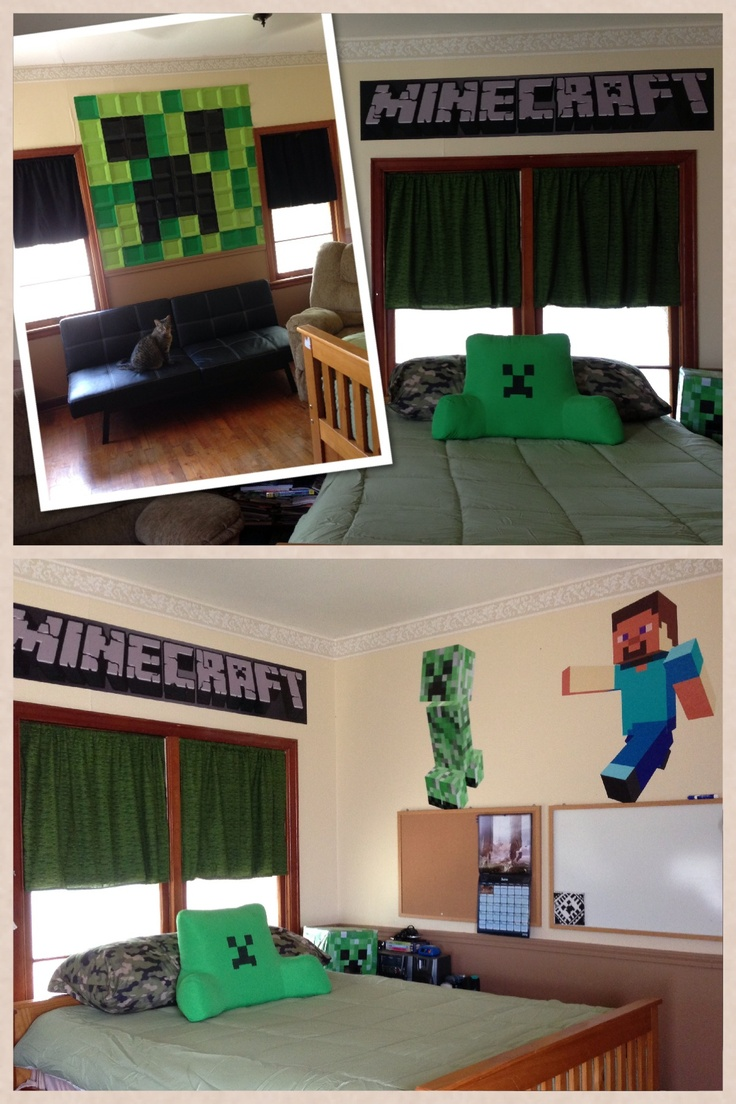Minecraft bedroom ideas in real life house made of paper for Bed decoration minecraft