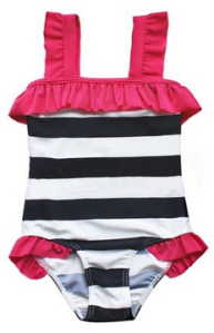 girls striped suit