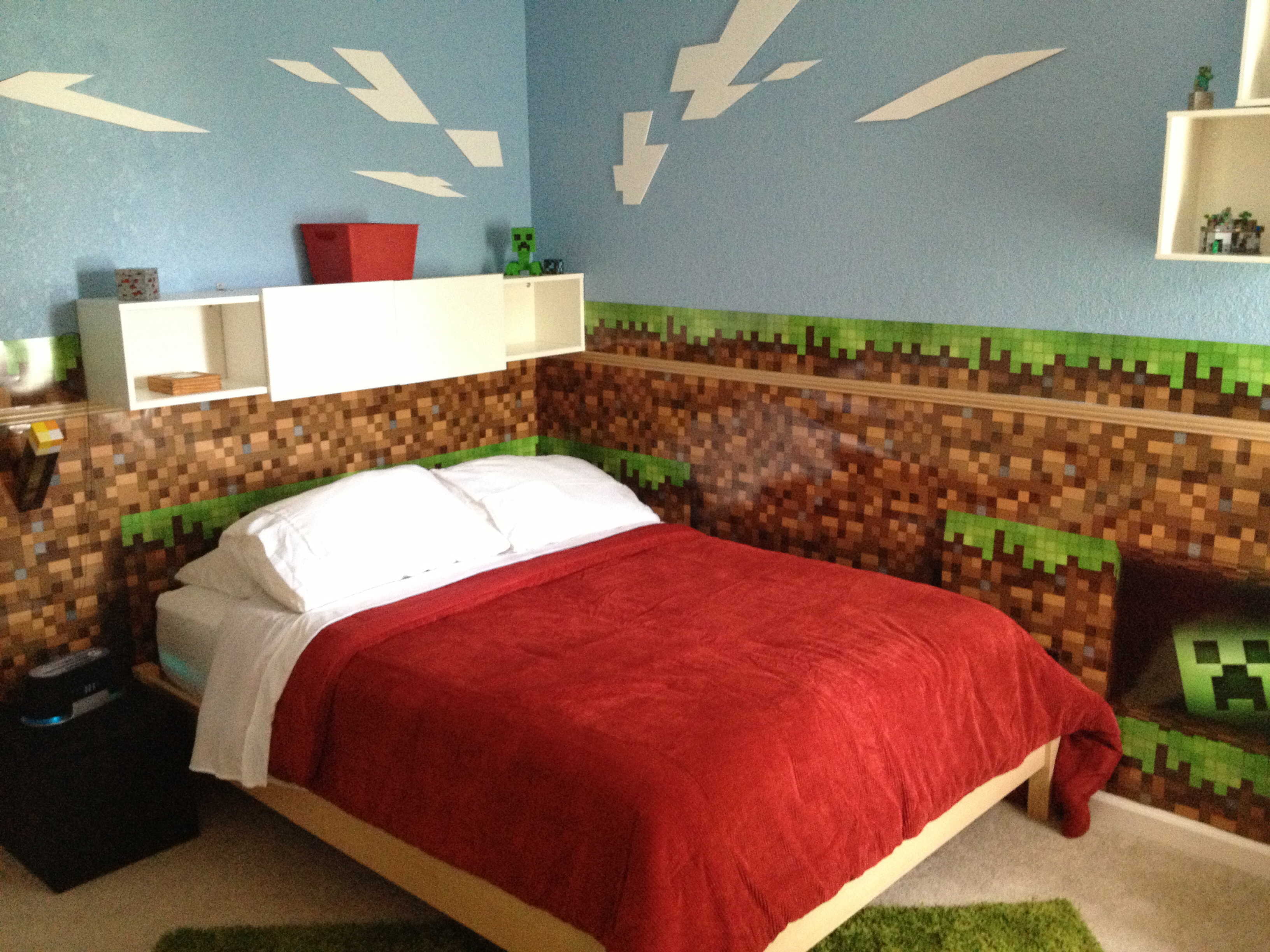 minecraft themed bedroom amazing minecraft bedroom decor ideas mind food 12402